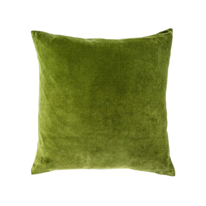 Medium conran hand dyed velvet cushion cover moss
