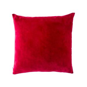 Medium conran hand dyed velvet cushion cover rasberry