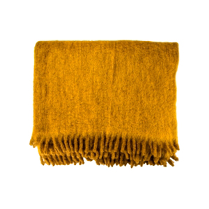 Medium conran ombre mohair throw ochre