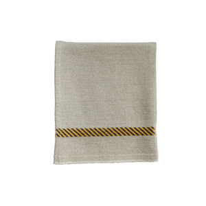Medium labour and wait french linen tea towel hazard stripe1