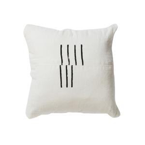 Medium trnk hand printed linen pillow