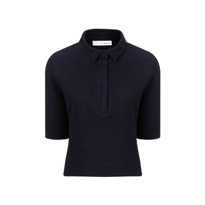 Medium avenue32  j.js. lee navy wool polo shirt top