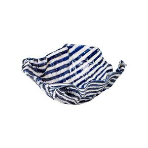 Medium conran amarettiblue   white stripe sweet bowl