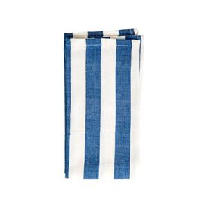 Medium conran cotton napkins white with navy stripes