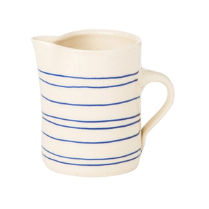 Medium conran horizontal stripe jug blue 250ml