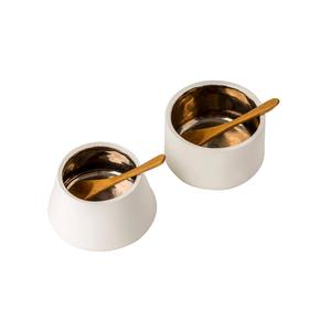 Medium conran salt pepper pots white   platinum