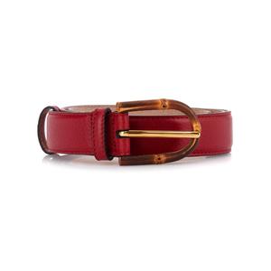Medium gucci bamboo buckle leather belt