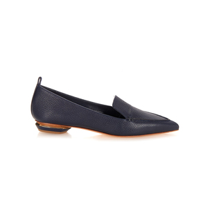 Medium matches nicholas kirkwood beya grained leather loafers navy