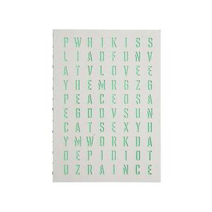 Medium merci green alphabet notebook