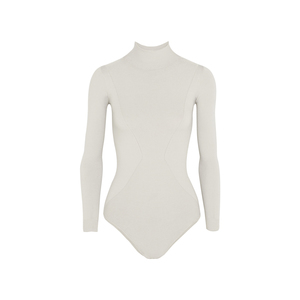Medium net body editions stretch knit turtleneck bodysuit