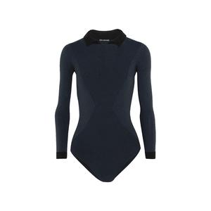 Medium net body editions alicia two tone stretch knit bodysuit