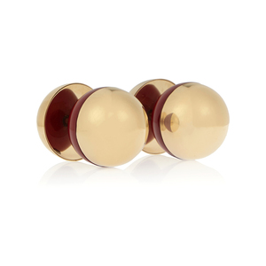 Medium net marni gold plated acrylic cufflinks