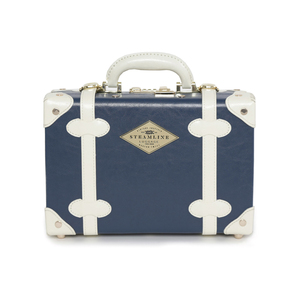 Medium steamlineluggage the entrepreneur navy vanity case