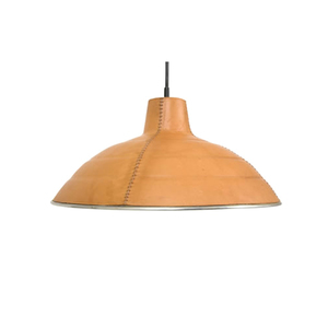 Medium studio helder leather lamp shade