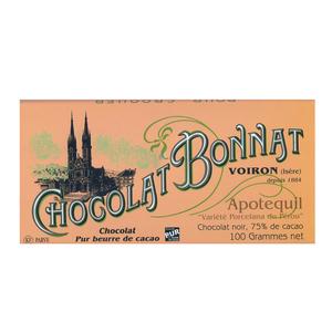 Medium chocolate trading company bonnat apotequil  75  dark chocolate bar