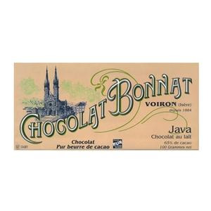 Medium chocolate trading company bonnat java  65  milk chocolate bar