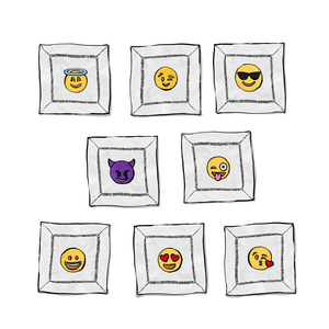 Medium halo home by kimberly schlegel whitman emoji cocktail napkins