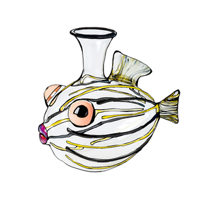 Medium the conran shop massimo lunardon cardinal glass fish decanter