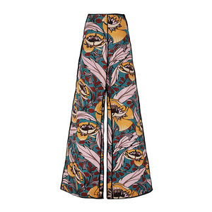 Medium marni wide legged floral printed trousers