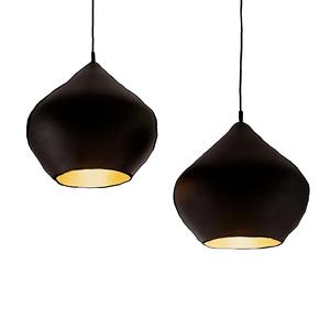 Medium tom dixon black stout beat pendant light