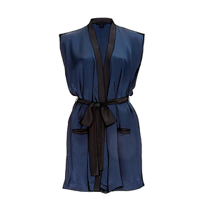 Medium kiki de montparnasse sleeveless silk robe