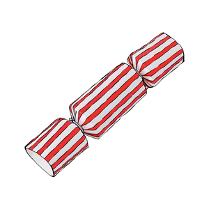 Medium the conran shpo box of 8 mini candy stripe christmas crackers