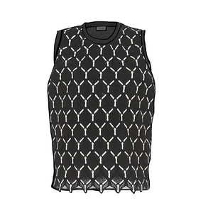 Medium giambattista valli cotton macrame  sleeveless blouse