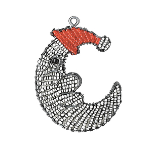Medium the conran shop beaded moon christmas decoration