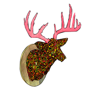 Medium greg holt candy deer head  2010