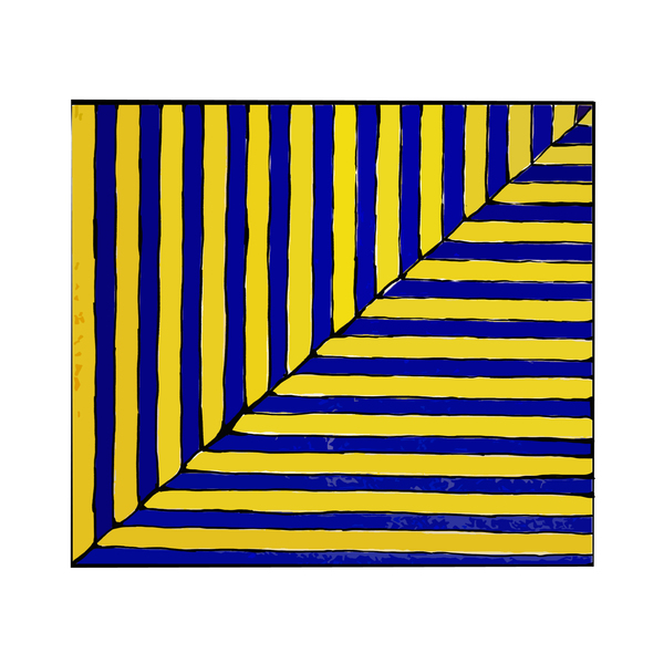 Large frank stella untitled  rabat  from ten works by ten painters   1964