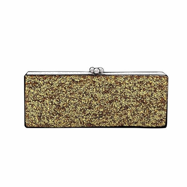 Large edie parker gold bag