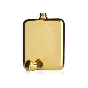 Medium trnkviski gold flask