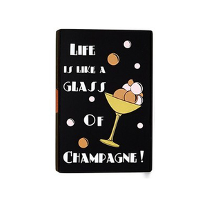 Medium yaz bukey   life is like a glass of champagne clutch