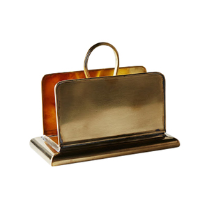 Medium food 52 sir madam brass napkin holder