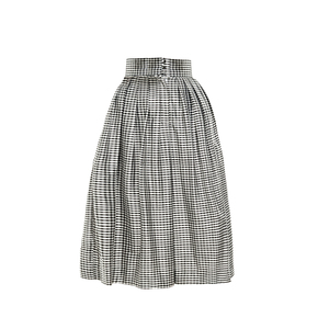 Medium bambah gingham  pleated culottes