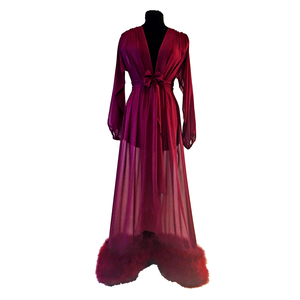 Medium boudoir by d lish lauren silk chiffon luxury dressing gown