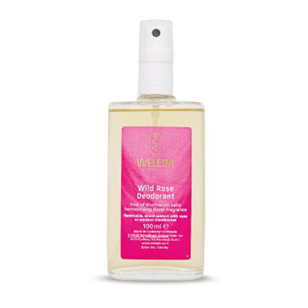 Large weleda wild rose natural deodorant spray