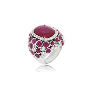 Medium ring rubies and white diamonds