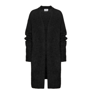 Medium acne studios raya wool and mohair black cardigan