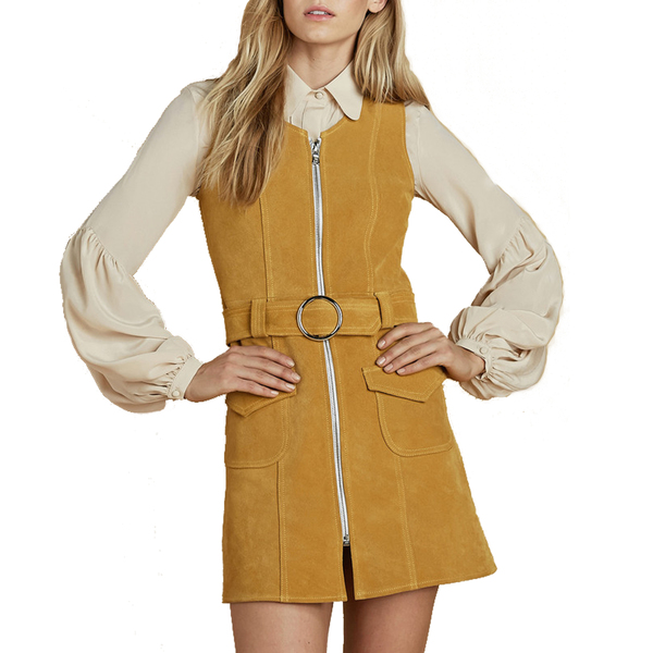 df51af6a3a6 Stoned Immaculate - Fonda suede dress - mustard - Semaine