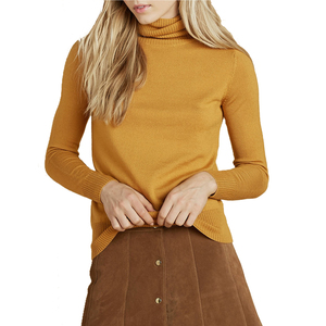 Medium stoned immaculate delilah turtleneck sweater mustard