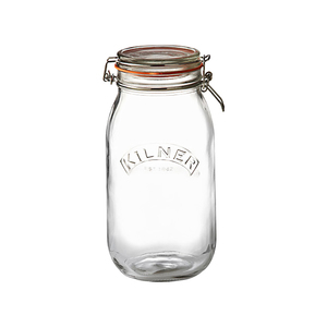 Medium kilner square clip top spice jar  70ml