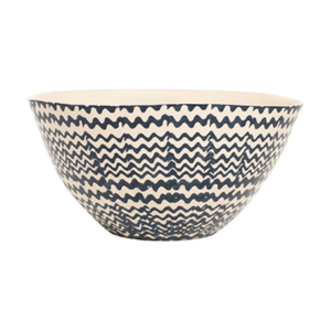 Medium dark blue salad bowl