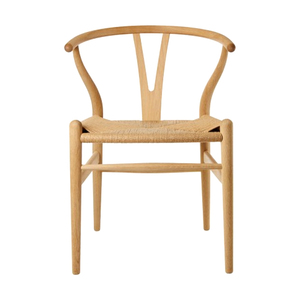 Medium hans wegner wishbone chair oak   natural paper cord seat