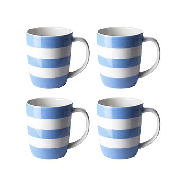 Large john lewis cornishware mugs  set of 4