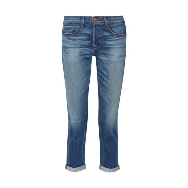 Large j brand 9022 georgina mid rise slim boyfriend jeans