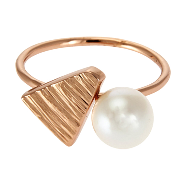 Large lucy folk aztec pearl textured treasure ring