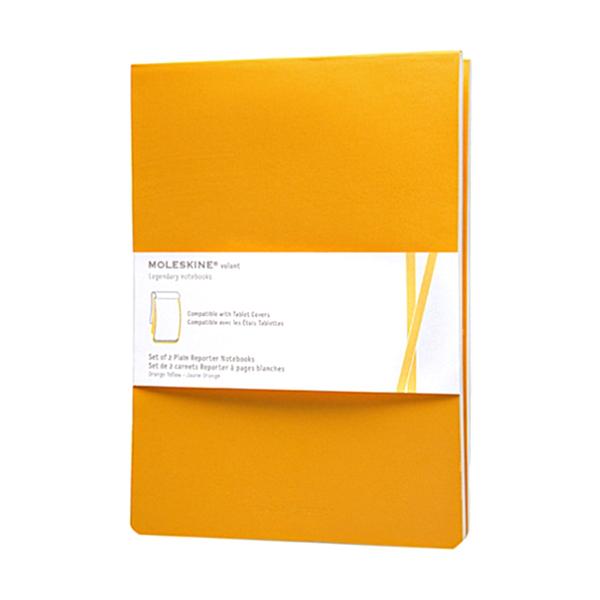 Large moleskineset of two plain volant reporter notebooks ipadrefi