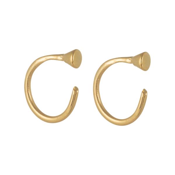Large theodora warre stud backless cuff hoop earrings