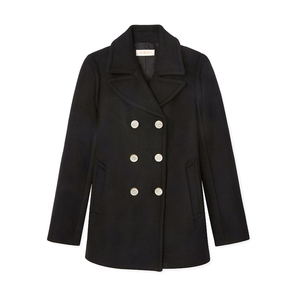 Large tory burch wool cashmere peacoat